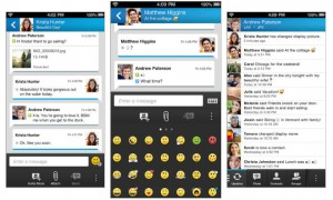 Photo from appleinsider.com Blackberry messenger is now available in Apple and Android app stores.